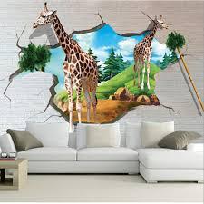 Elegant Custom 3D Large Murals,3D Stereo Cartoon Giraffe Wallpaper Papel De  Parede,living Room Sofa TV Wall Bedroom Wall Paper In Wallpapers From Home  Improvement ...