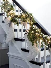 Christmas tree  Staircase Christmas Decorations Ideas
