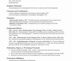 Radiologic Technologist Resume Example Elegant X Ray Tech Resume ...