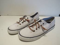 sperry sperry sperry seacoast womens sts95128 white casual sneakers size 9 5m s678 226880