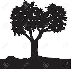 ベクトル画像編集が簡単な木のシルエット