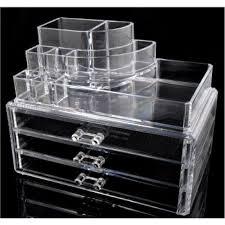 3 drawer 1 makeup tray acrylic organizer in stan