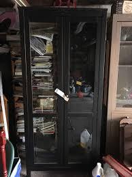 description excellent condition hemnes glass door cabinet