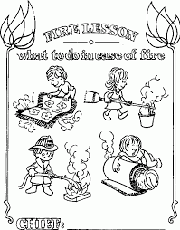 Small Picture Fire Safety For Kids Coloring Pages Coolest Coloring Fire Safety