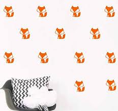 <b>YOYOYU</b> 36 Set Orange Forest Fox Pattern <b>Wall Sticker</b>-Kids ...