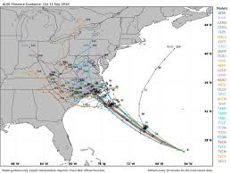 Hurricane Tracking Chart Florence Hurricane Florence Spaghetti Chart Starting To Target Area