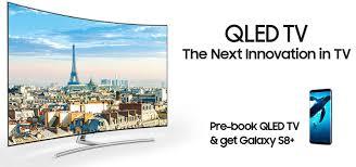 tv qled samsung. samsung qled tv india pre-booking free s8+ tv qled