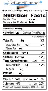 quaker old fashioned oats nutrition facts libaifoundation