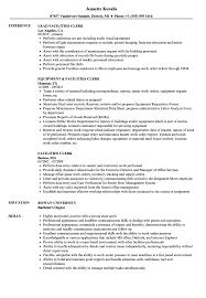 Facilities Clerk Resume Samples Velvet Jobs