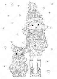 Hand Getrokken Doodle Overzicht Chihuahua Hond Boho Schets