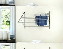 wall mounted fold down folding clothes rack coat hanger splendid retractable furniture amazing for collapsible