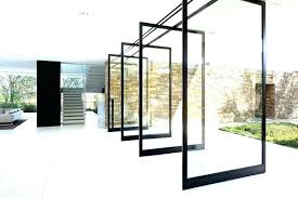 interior glass walls sliding wall large image for inspiring homes office design