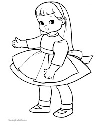 Small Picture Baby Doll Printable Coloring Pages For Kids And For Adults