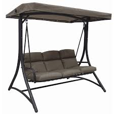 opus cappuccino 3 seat cushioned swing inspired outdoor living