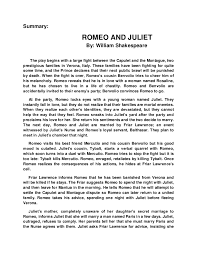 "short essay on romeo and juliet short summary of ""romeo and juliet"" by william shakespeare"
