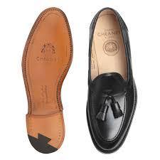 harry tassel loafer in black calf leather