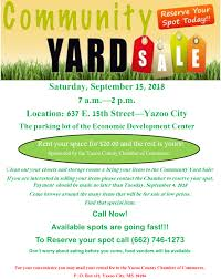 Fall Yard Sale Flyer 1 Visit Yazoo County Mississippi