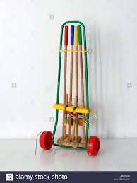 Game With Wooden Sticks Vintage game set for Croquet made by Favre Made in France 50