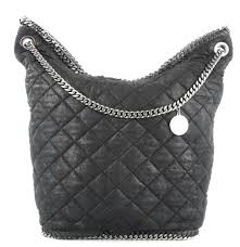 Stella McCartney Falabella Bucket Quilted Black Faux Leather ... & Stella McCartney Falabella Bucket Quilted Black Faux Leather Shoulder Bag -  Tradesy Adamdwight.com