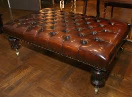 round leather tufted ottoman. Coffee Table Ideas Round Storage Ottoman Large Tufted Mission Style Leather
