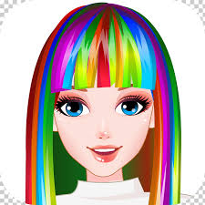 rainbow hair style hairdresser hair salon bride haircut yummy cake cooking games hairstyle android