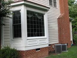 Small Picture Materials of Exterior Wall Designs Large Glass Window and Brick