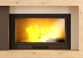 glass fireplace screen inserts gas log screens l17 fireplace