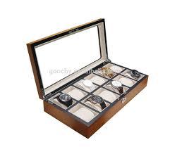 gc02 sm 12wl rectangle 12 slot men wrist watch box real wood watch gc02 sm 12wl rectangle 12 slot men wrist watch box real wood watch storage