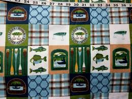 Cotton Flannel Quilt Fabric Snuggle Fishing Patch Lures Canoe ... & Cotton Flannel Quilt Fabric Snuggle Fishing Patch Lures Canoe - product  images of Adamdwight.com