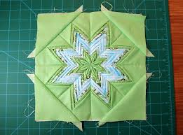 159 best folded star images on Pinterest | Hexagon quilting ... & Moda Bake Shop: Fancy Folded Star block and pot holder Adamdwight.com
