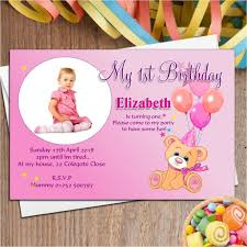 1st Birthday Invitation Card Matter In English