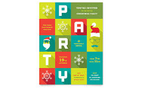 Work Christmas Party Flyers Work Christmas Party Flyer Template Design