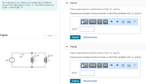 L1 And L2 Solved Two Inductances L1 And L2 Are Connected In Paralle