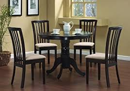 table 4 chairs set. 5 pc round dining table 4 chairs chair set cappuccino