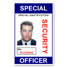 Security Pvc Officer Card Id Special