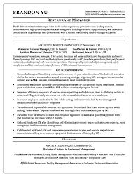 Resume Restaurant Manager Hotel Sample Monster Com Front Desk