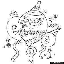 Small Picture Coloring Pages Happy Birthday FunyColoring