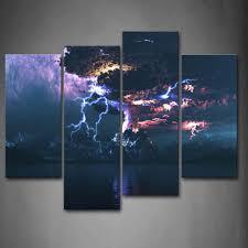 Space Wall Art Entrancing Wall Art Designs Sensational Canvas Lightning Wall  Art Closer . Decorating Design