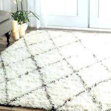 soft white rug round