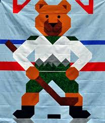 23 best Hockey quilts images on Pinterest | Quilt block patterns ... & Hockey Quilt pattern with multiple sizes Adamdwight.com