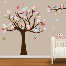 nursery wall decals on Nursery Wall Decal Wall Sticker, Baby Nursery Tree  Decals, Custom Name .