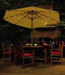 solar powered umbrellas light up