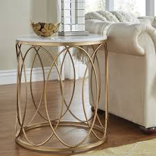 Lynn Round Gold End Table with Marble Top by iNSPIRE Q Bold - Free Shipping  Today - Overstock.com - 24156992