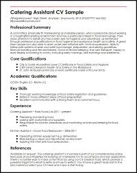 good cv template catering assistant cv sample myperfectcv