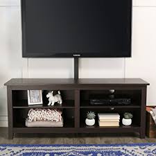 wood tv stand with mount. we furniture 58\u0026quot; wood tv stand console with mount, espresso tv mount