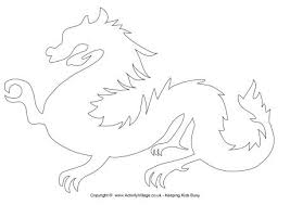 template of a dragon chinese dragon template