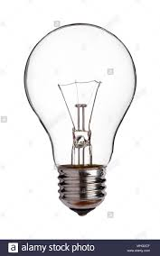 Cut Light Bulb Old Tungsten Light Bulb Cut Out On A White Background Stock