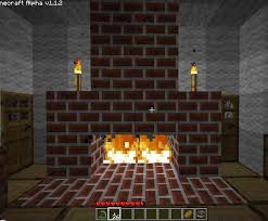 Fireplace And Wooden House  Survival Mode  Minecraft Java Fireplace In Minecraft