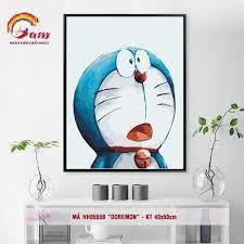 Tranh tự tô màu DIY sơn dầu số hóa hoạt hình - Mã HH0555B Doremon