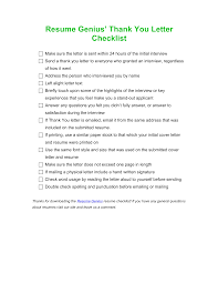 Is Resume Genius Free Free Microsoft Word Resume Genius' Thank You Letter Checklist 46